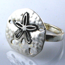 Sterling Silver Big Sand Dollar Ring