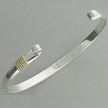 Convertible Sterling Silver with 14K Gold Wrap Beachcomber Bangle.