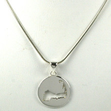 Sterling Silver Cape Cod Cut Out Necklace