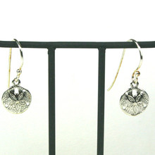 Sterling Silver Dangle Small Sand Dollar Earrings