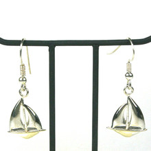 Sterling Silver Dangle Sailboat Earrings