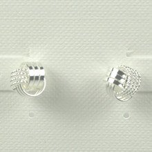 Sterling Silver Love Knot (Smooth) Earrings