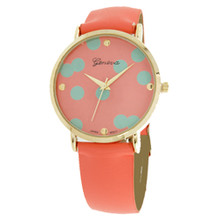 Coral with Mint Polka Dots Watch