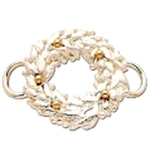 Sterling Silver and 14K Gold Wreath