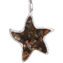 Sterling Silver and Beach Sand Starfish Pendant