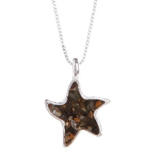 Sterling Silver and Beach Sand Starfish Necklace