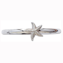 Sterling Silver Starfish Bangle