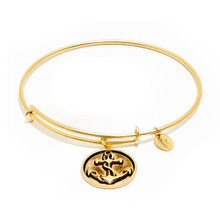 Anchor Expandable Bangle Gold