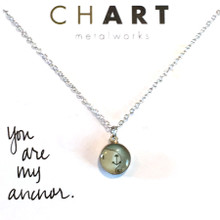 Anchor Chart Petite Necklace