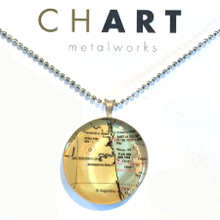 Jacksonville and St. Augustine Chart Classic Necklace