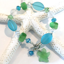 Sea Glass Inspired Bracelet 16