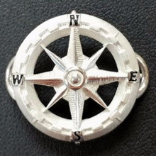 Sterling Silver Compass Rose Clasp