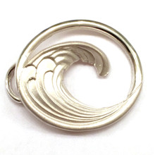 Sterling Silver Wave Clasp