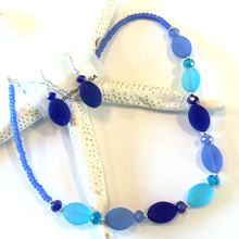 Sea Glass Inspired Necklace and Earring Set 7