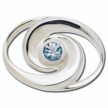 NEW Sterling Silver Swirl Clasp with Sky Blue Topaz
