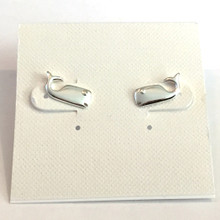 Sterling Silver Whale Earrings