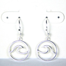 Classic Sterling Silver Wave Earrings