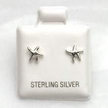Sterling Silver  XSMALL Starfish Earrings
