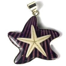 Sterling Silver and Real Starfish Pendant