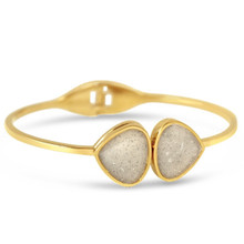 Gold Teardrop Bangle (Beaches of Cape Cod Sand)