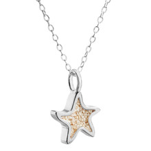 "Sand Jewel Necklace Starfish Size 18"" With Sands of Cape Cod Beaches"