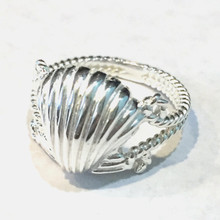 Sterling Silver Scallop Shell Ring