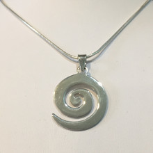 Sterling Silver Swirl Necklace