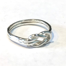 Sterling Silver Thick Knot Ring
