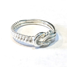 Sterling Silver Thick Knot 1/2 Rope Ring