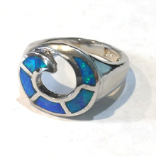 Sterling Silver and Opal Wave Ring