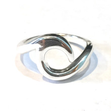Sterling Silver Thick Wave Ring