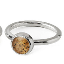 Smugglers Beach Sand Sterling Stacker Rings