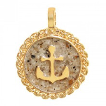 Gold Anchor Sand Beach Charm