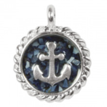 Silver Anchor Sand Beach Charm