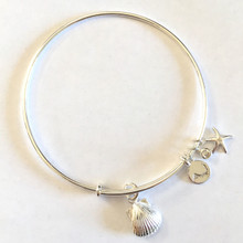 Sterling Silver Alex and Ani Style Scallop Bangle