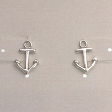 Sterling Silver Anchor Post Earrings ON SALE