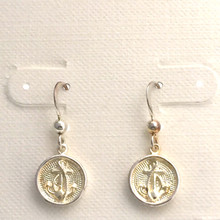 "Sterling Silver Anchor ""Button"" Dangle Earrings ON SALE"