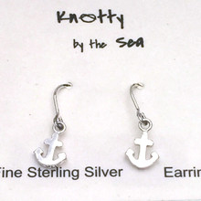 Sterling Silver Mini Anchor Dangle Earrings ON SALE