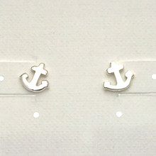 Sterling Silver Mini Anchor Post Earrings ON SALE