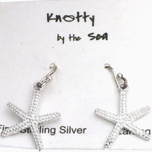 "Sterling Silver ""Stubby"" Starfish Dangle Earrings ON SALE"