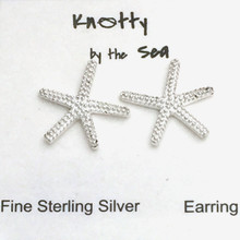 "Sterling Silver ""Stubby"" Starfish Post Earrings ON SALE"