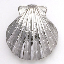 Sterling Silver Large Scallop Shell Pendant