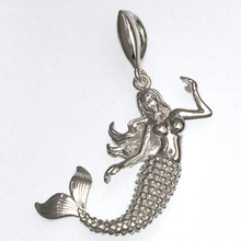 Sterling Silver Mermaid Pendant
