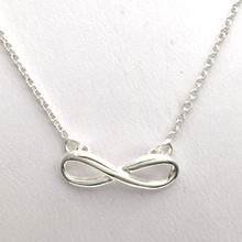 "Sterling Silver Infinity Necklace 16"" with Extender"
