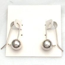 Sterling Silver 10MM Ball French Hoop Earrings