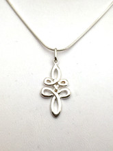 """Sterling Silver Celtic Swirl Necklace 18"""""""