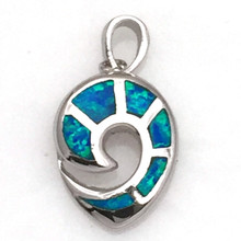 Sterling Silver and Opal Spiral Pendant