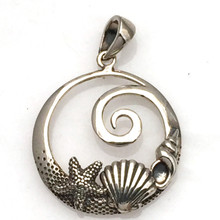 Sterling Silver and Sea Life Pendant