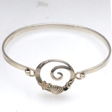 Sterling Silver Sea Life Bangle