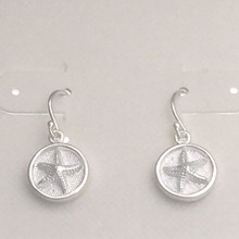 """Sterling Silver Starfish """"Button"""" Dangle Earrings ON SALE"""
